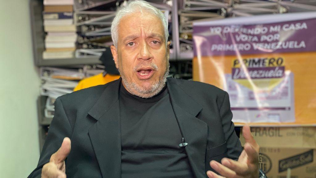 David García, candidato en la lista de Primero Venezuela en las elecciones parlamentarias del 6 de diciembre en Venezuela