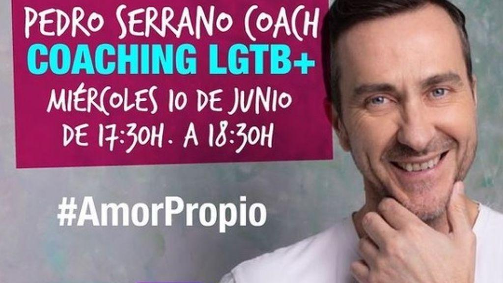 Pedro Serrano, coach especializado en el colectivo LGTB+