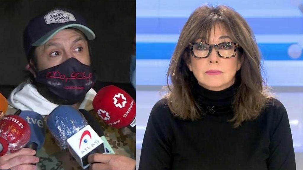 Ana Rosa reacciona a las palabras de Rafael Amargo tras salir del juzgado