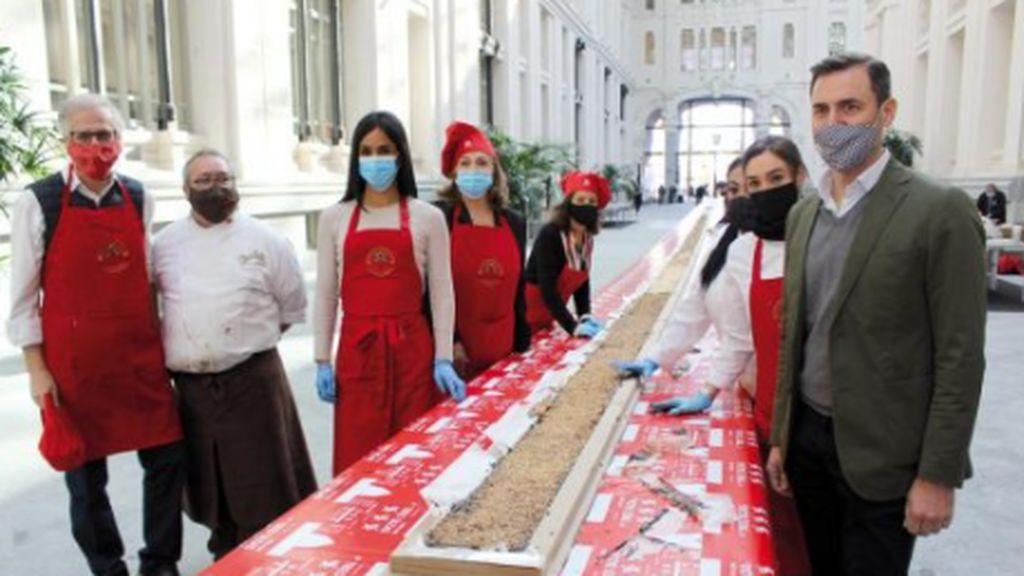 El turrón de chocolate más grande del mundo, en Madrid