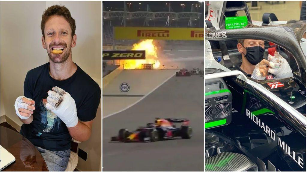 """El infierno que vivió Grosjean cuando estaba entre las llamas: Mi cuerpo empezó a relajarse. Pensaba que iba a morir"""""""