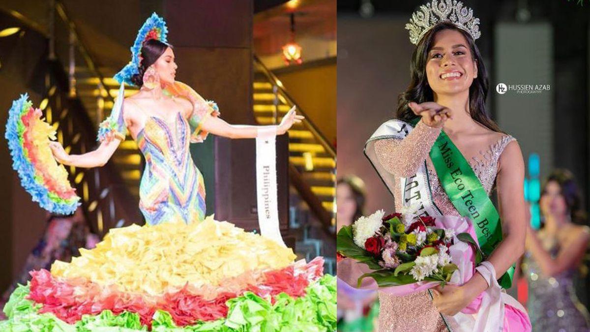 La nueva miss eco Internacional con vestido de bolsas de plástico reciclado y para despertar conciencias