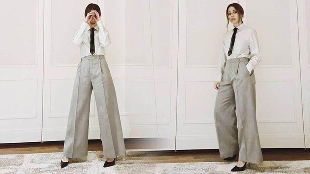 Blanca Suárez se apunta a la tendencia de los 'dad pants'. Claves para llevarlos este invierno