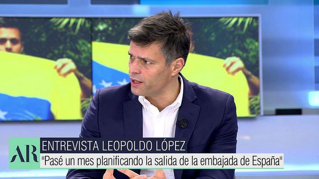 """Leopoldo López, líder de la oposición venezolana: """"Zapatero fue a Venezuela a blanquear unas elecciones"""""""
