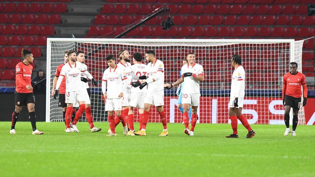 El Sevilla se mete como segundo en los octavos de la Champions.