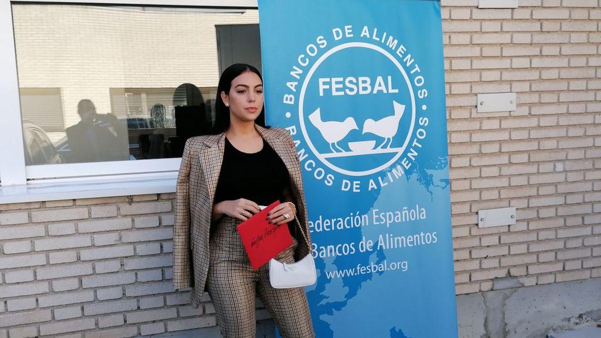 "Georgina Rodríguez dona 20.000 euros al Banco de Alimentos ""para que a nadie le falte comida estas fechas"""