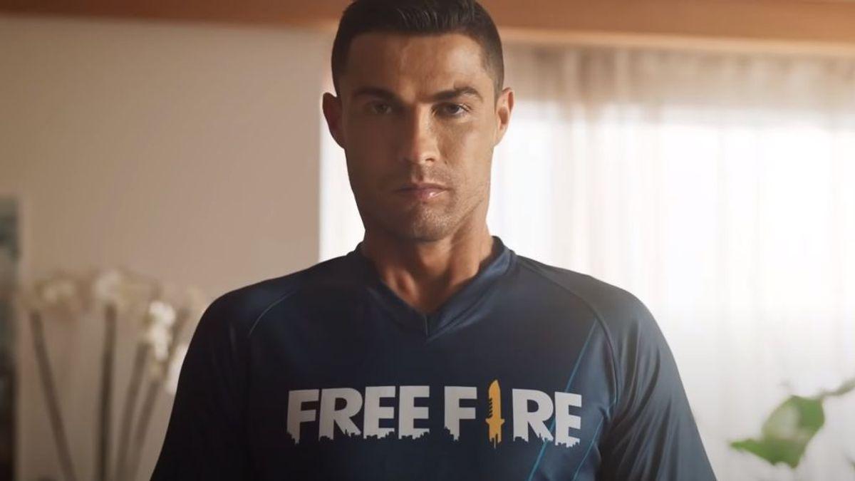 Cristiano Ronaldo con Free Fire