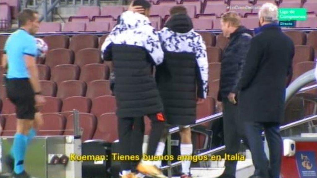 Koeman criticó al árbitro del Barça - PSG.