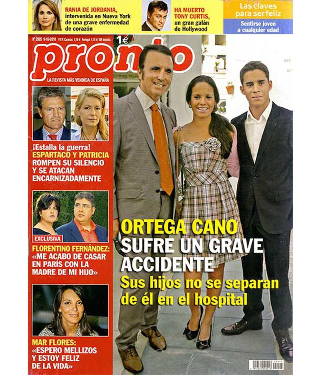 Florentino Fernández en la portada de Pronto, tras su boda