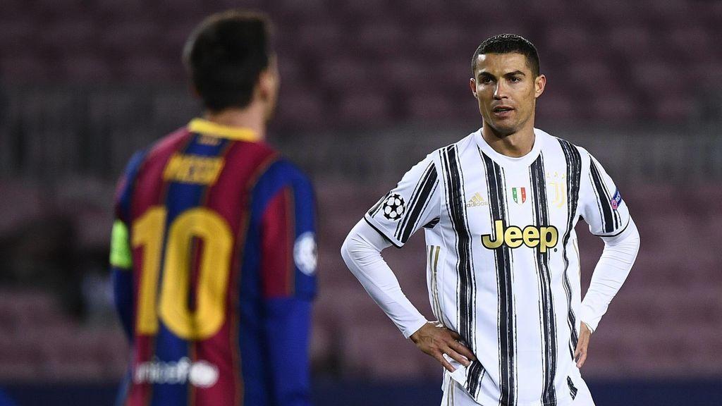 Cristiano Ronaldo marcó dos goles en el Camp Nou.