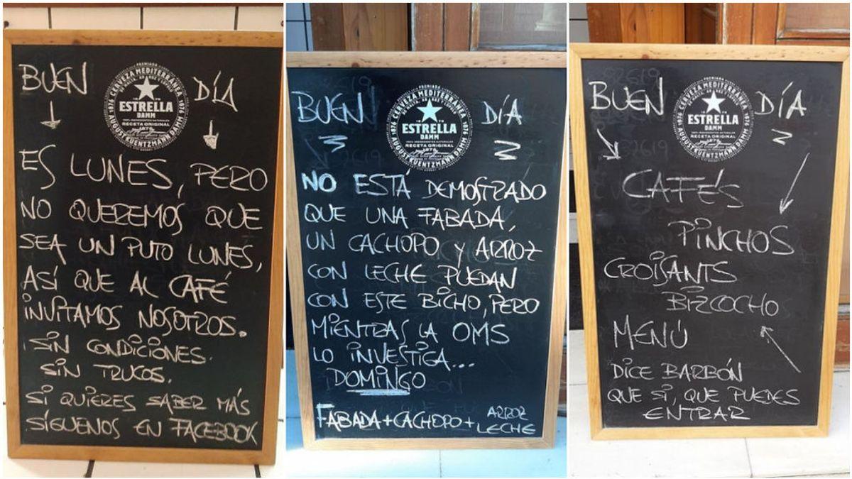 Un bar de Oviedo se vuelve viral con su café y humor para llevar