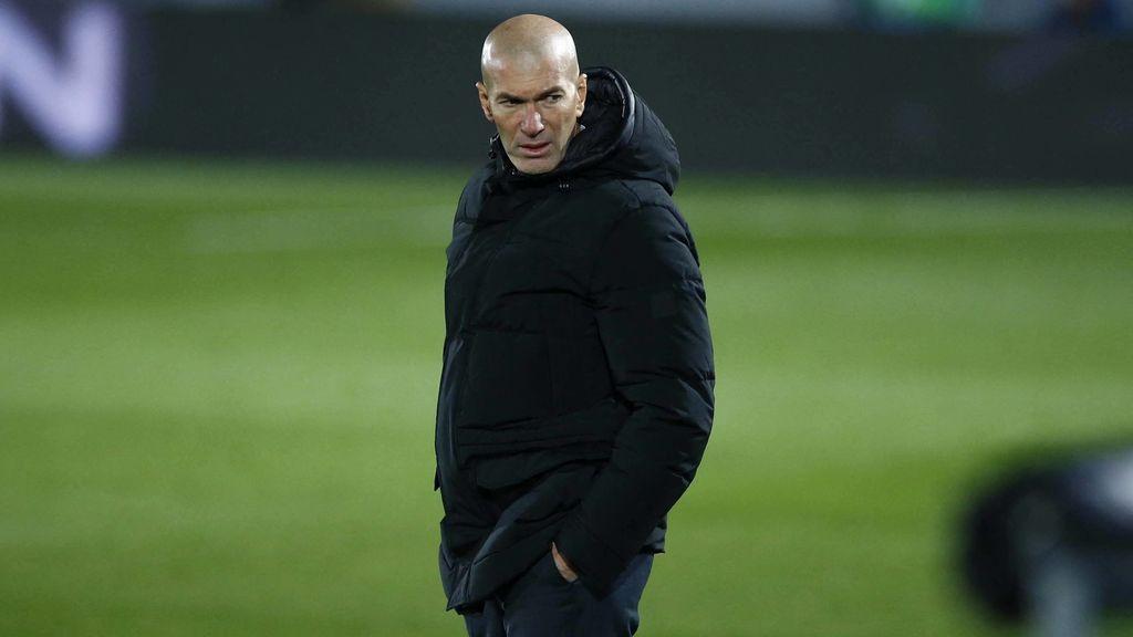 Zidane, durante el partido ante el Gladbach.