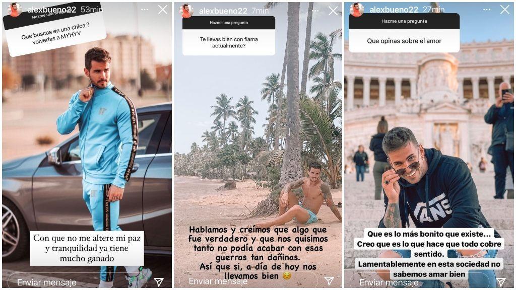 Las historias de Instagram de Álex Bueno