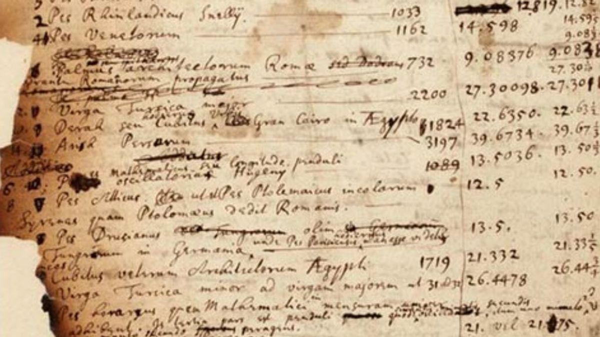 Isaac Newton creía que las pirámides mostraban la fecha del Apocalipsis, según unas notas inéditas subastadas