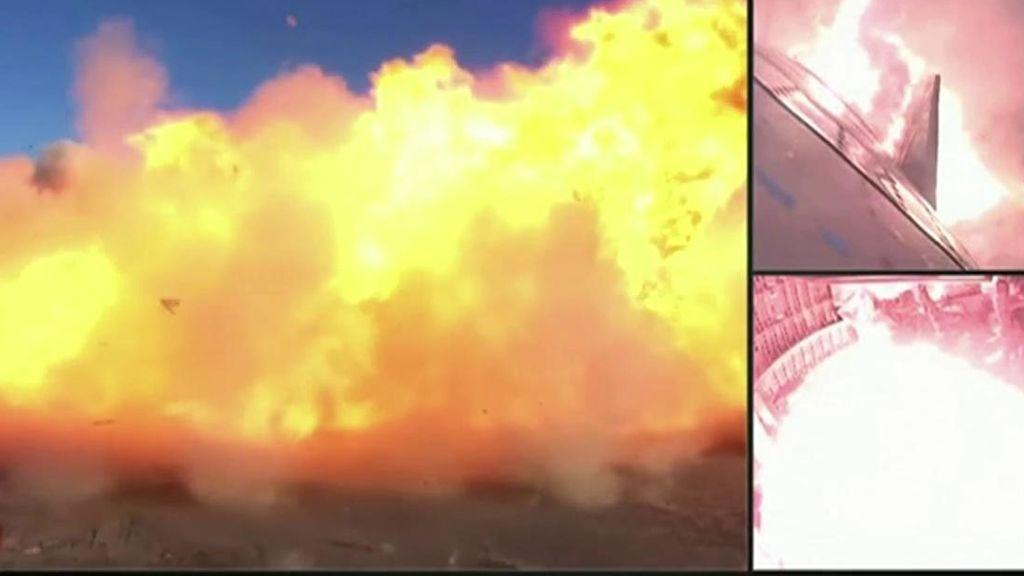 La Space X se convierte en una enorme bola de fuego
