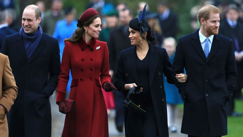Las diferentes vidas del príncipe Harry y Meghan Markle y Kate Middleton y William: así han tomado caminos por separado.