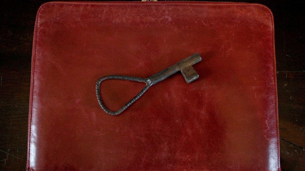 La llave del portón de la finca del Pazo de Meirás