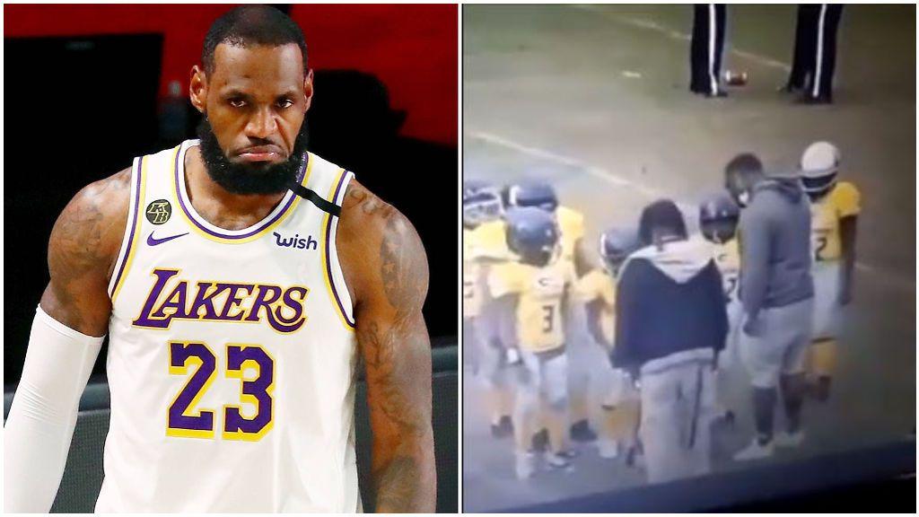 LeBron James no se pudo contener al ver el lamentable vídeo.