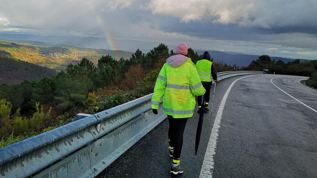 A pie de Pontevedra a Madrid para pedir soluciones para la hostelería