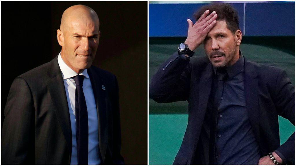 Zidane y Simeone, durante un partido