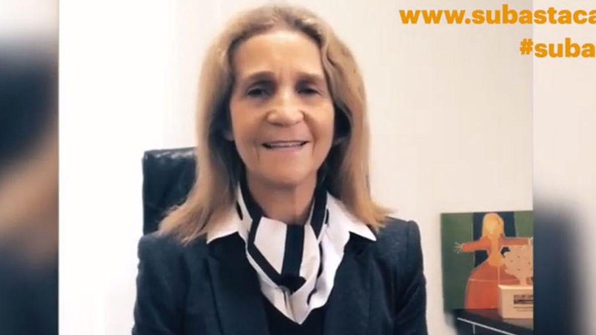 Infanta Elena, en el vídeo de la subasta Cascajares