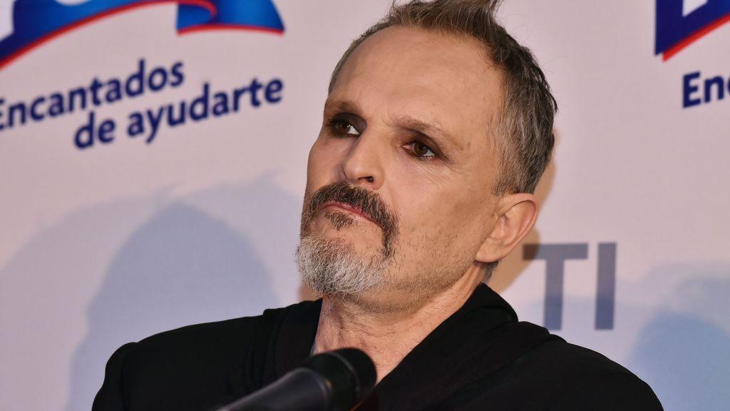 Miguel Bosé, en 2019, en una rueda de prensa en México
