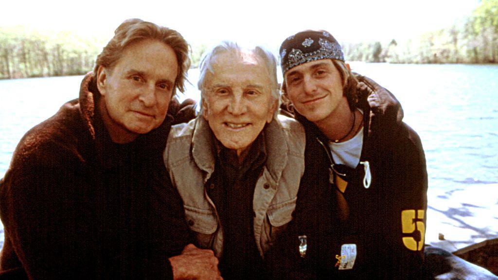 Michael Douglas, Kirk Douglas, Cameron Douglas en 2003