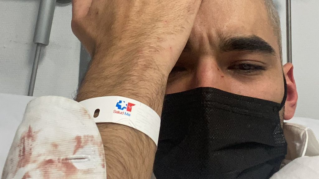 Roberto Ruiz en el hospital