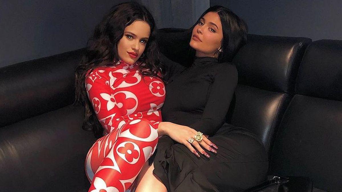 Noche de chicas: Así ha sido la fiesta navideña con las que las Kardashian han sorprendido a Rosalía