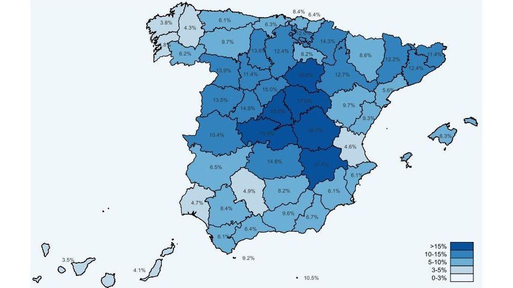 Las comunidades más afectadas por el coronavirus según el estudio de seroprevalencia: Madrid, a la cabeza