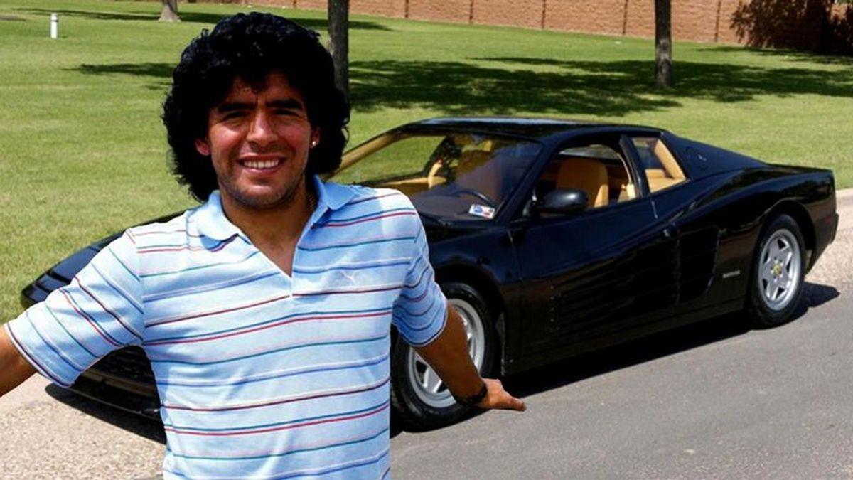 Historia del F40: el día que Maradona quiso un Ferrari de color negro.
