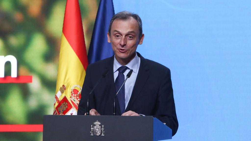 El ministro de Ciencia e Innovación, Pedro Duque, interviene durante la presentación del Programa Misiones de Ciencia e Innovación, en el Museo de Ciencia y Tecnología