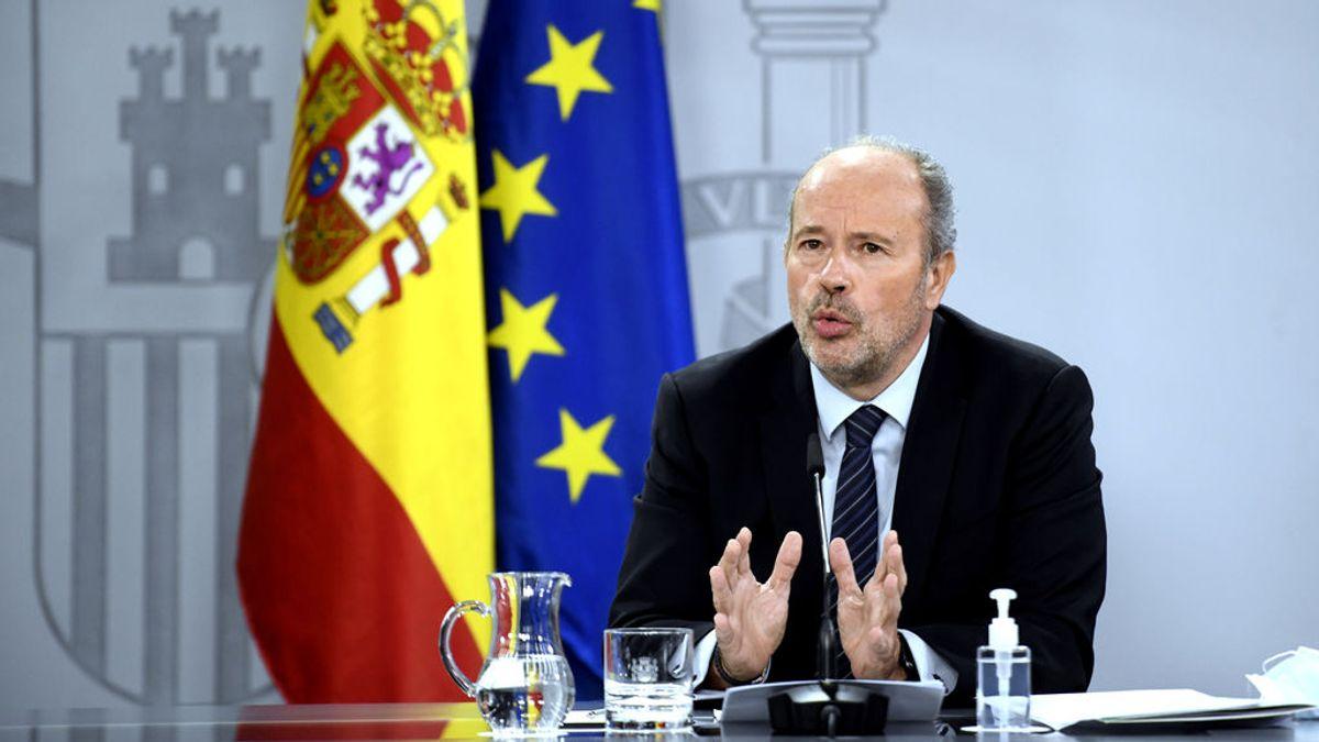 Ministro de Justicia Juan Carlos Campo rueda de prensa 15 de diciembre