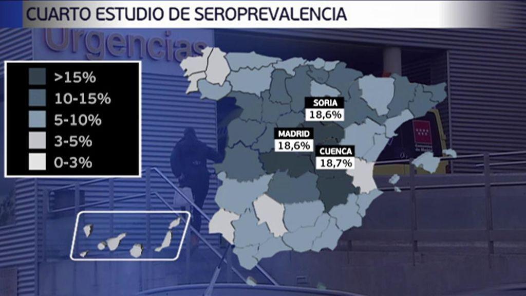 El mapa de seroprevalencia por comunidades