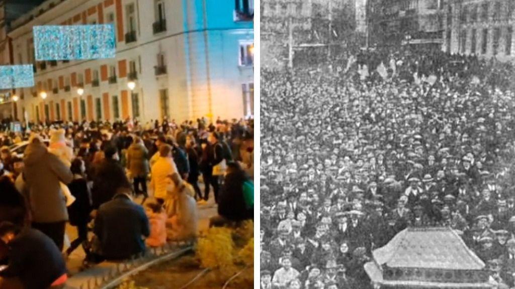 La Puerta del Sol en 2020 y en 1918