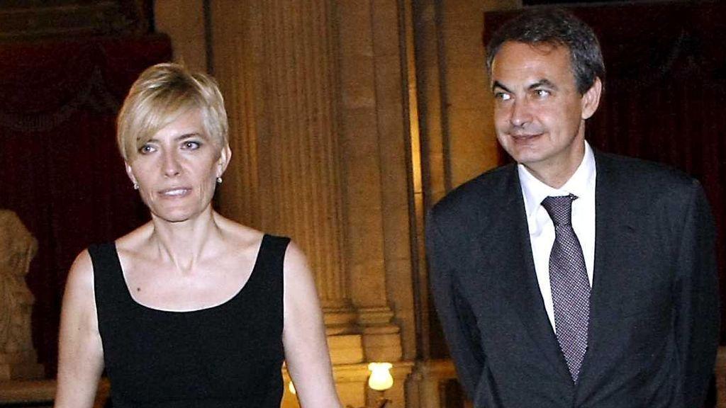 Zapatero y su mujer