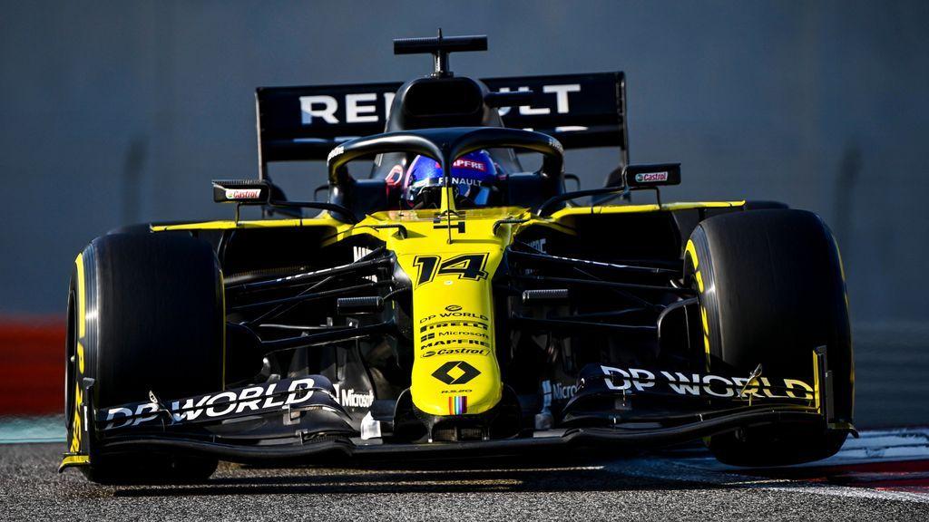 Fernando Alonso mete miedo con Renault: mejor tiempo en el primer test de Abu Dhabi