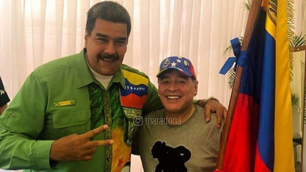 Nicolás Maduro debe 50 millones de euros a los herederos de Maradona por trabajos en Venezuela