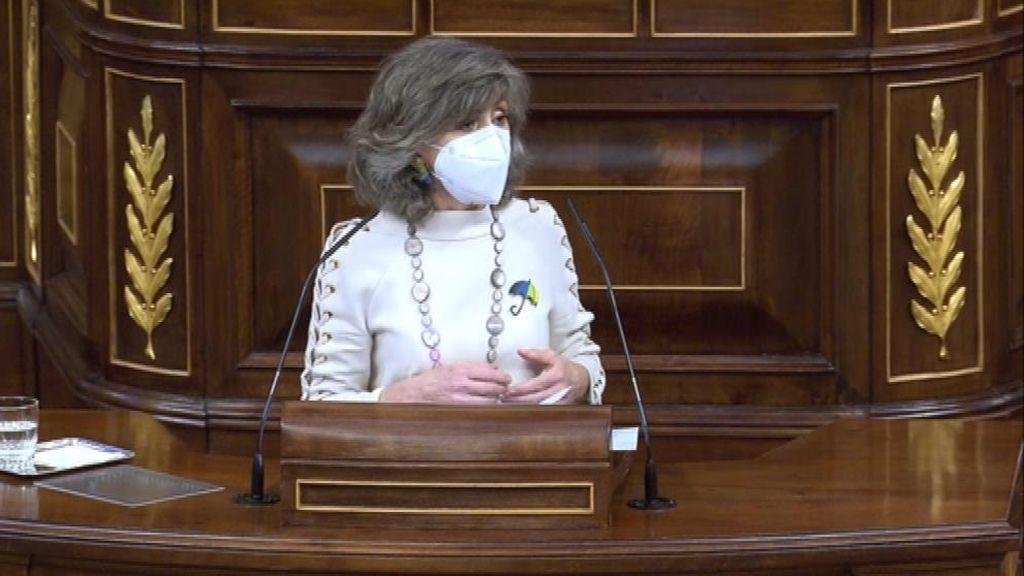 La ministra Carcedo durante su intervención en el Congreso