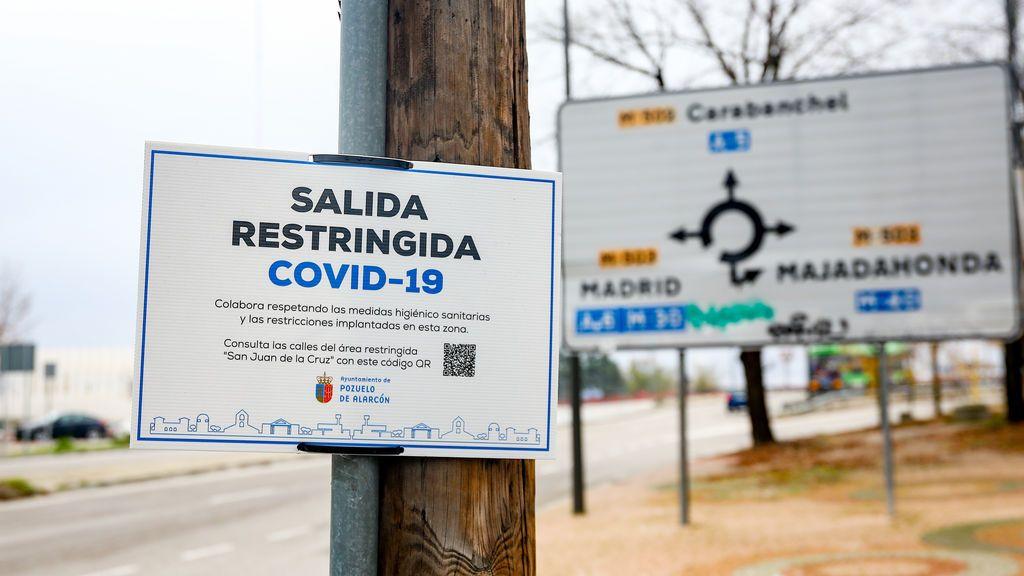 Madrid confina cinco nuevas zonas básicas de salud más tras el incremento en la incidencia de casos de la última semana