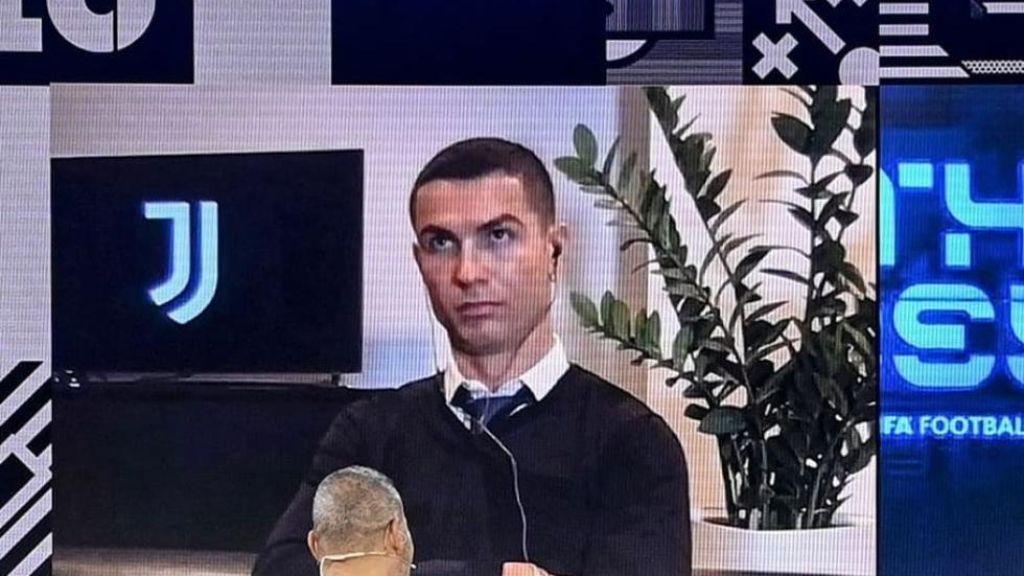La cara que se le quedó a Cristiano Ronaldo al no verse ganador del premio