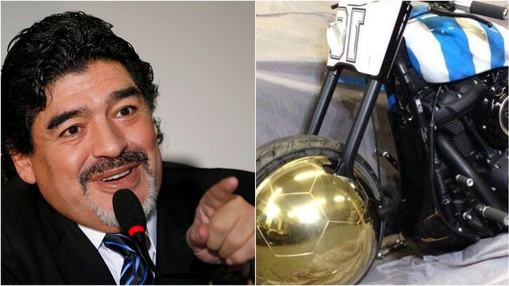 """""""Yo soy Diego"""": la moto personalizada de gran valor de Maradona que formará parte de la herencia"""