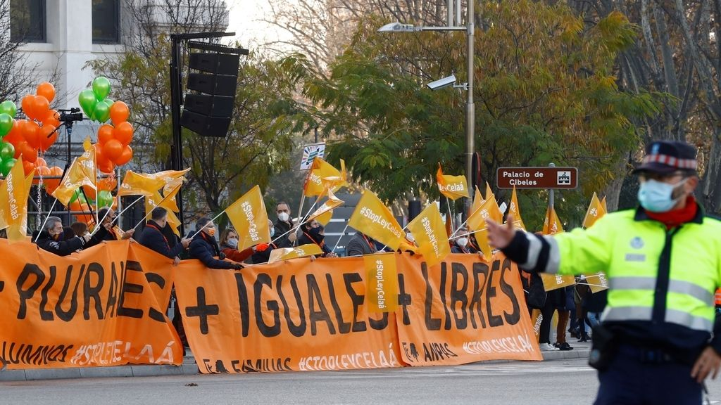 Manifestación contra la 'Ley Celaá' en Madrid