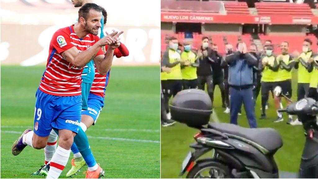El gran gesto de los jugadores del Granada con un trabajador del club: le regalan una moto después de que a este se la robaran