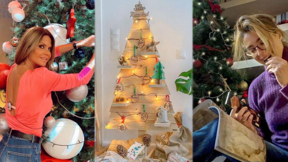 ¡Todo al rojo! Los famosos marcan tendencia con sus árboles de Navidad