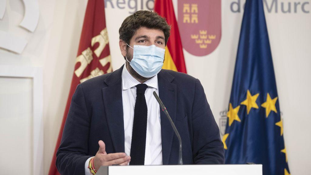 Fernando López Miras, presidente de la Región de Murcia.