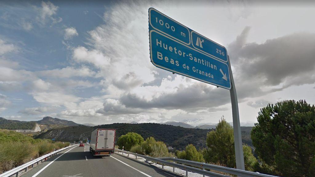 Autovía A-92 de Granada a su paso por Huétor Santillán