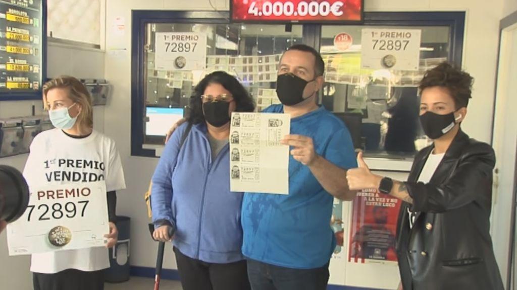 Millonario por la Lotería de Navidad tras tres años sin trabajo para cuidar de su mujer enferma