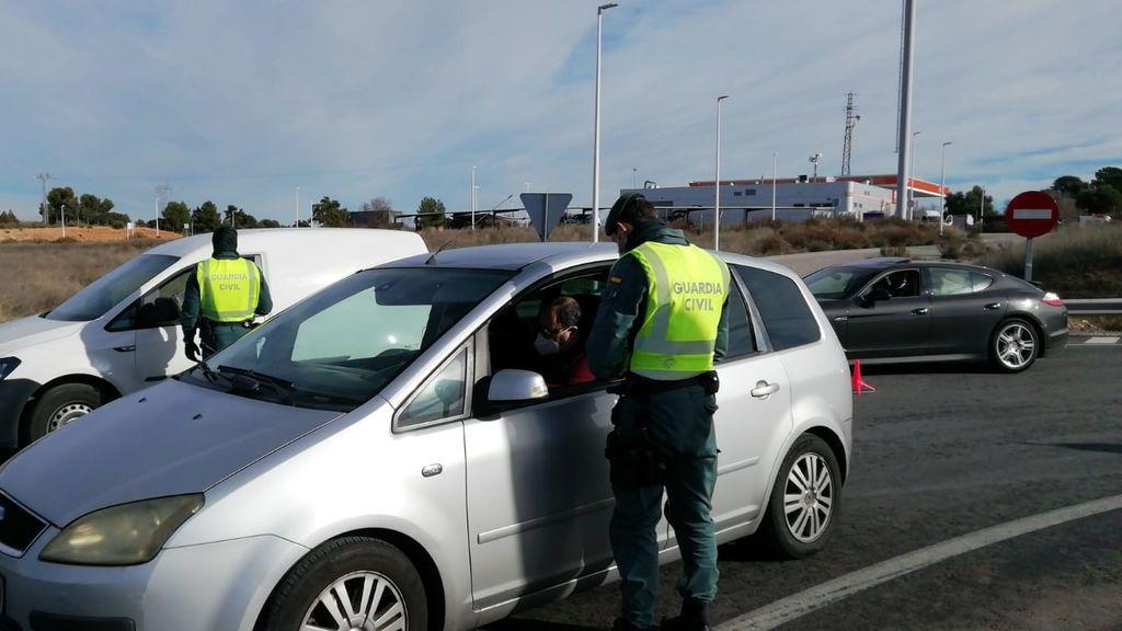 Control en la A-3 entre la Comunidad Valenciana y Castilla-La Mancha