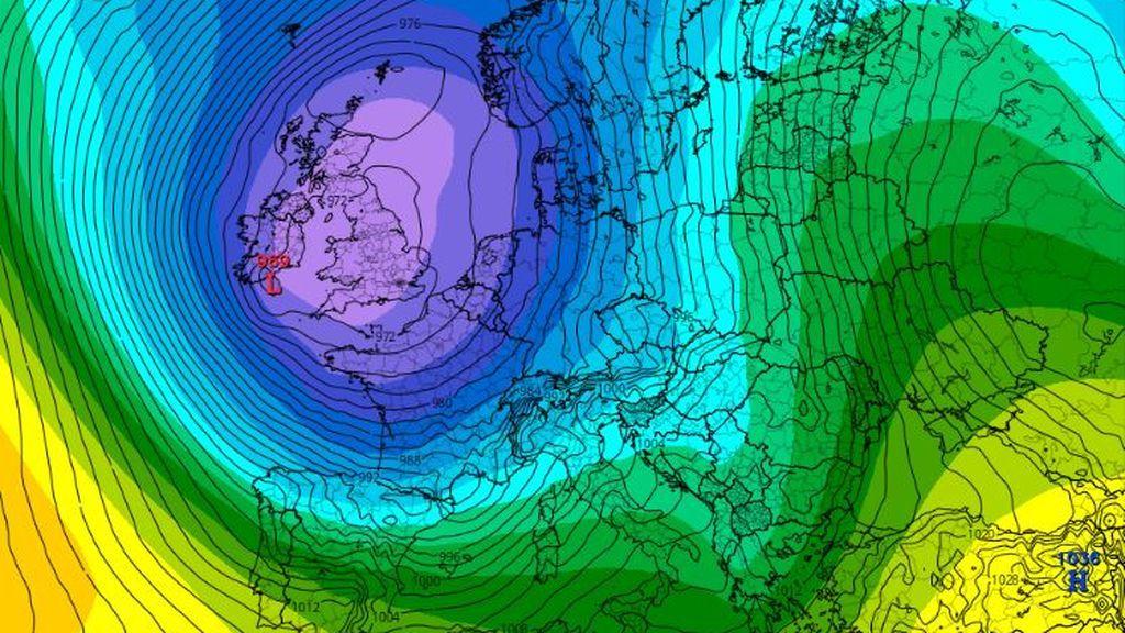 De Groenlandia a Portugal: una tremenda borrasca dará un vuelco al tiempo en Europa la semana que viene